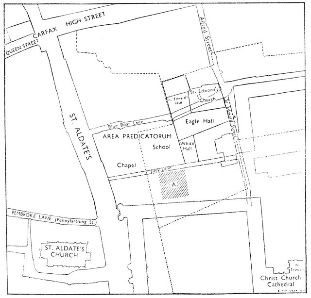 Fig. 9: Blackfriars first site (Hinnebusch 1950, p. 5)