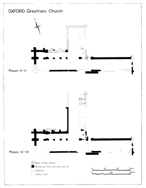 Fig. 3: Phases IV - VII of Greyfriars construction